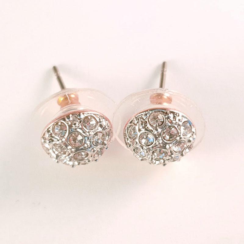 silver rose gold flatbowl earrings