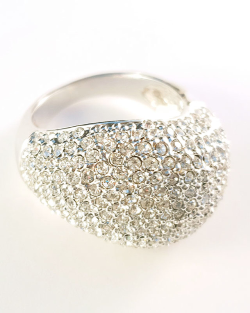 silver bling ring