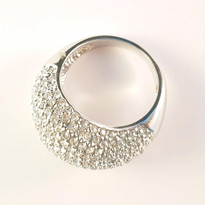 silver bling ring