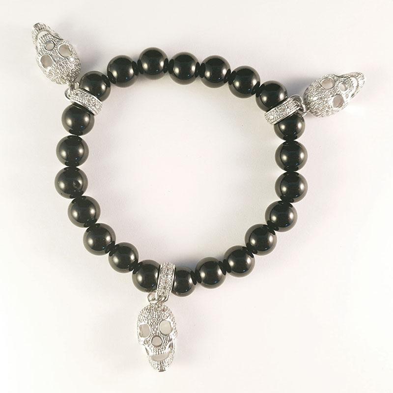 Dark Rebel - Black skull bracelet