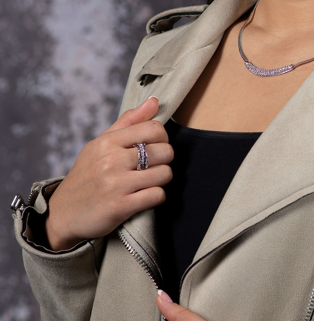 silver London jewelry ring and necklace